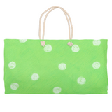 Buy Parrot Green Dot Weekender Tote Bags by Wendy Christine