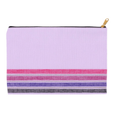 Lavender Stripe Accessory Pouches