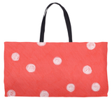 Buy Coral Red Weekender Totes at Raspberry Lane Crafts.  The Art of Wendy Christine