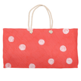 Coral Red Dot Weekender Tote Bags for Sale by The Art of Wendy Christine