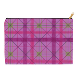 Chrysanthemum Plaid Accessory Pouches