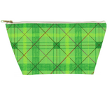 Green Plaid Accessory Pouches