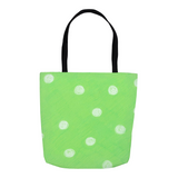 Parrot Green Dot Tote Bags