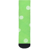 Buy Parrot Green Spotted Dot Crew Socks at Raspberry Lane Crafts