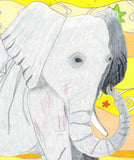 Elephant art print for sale from The Art of Wendy Christine