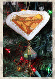 Buy Brown Amber Jewel Ornament cross stitch  pattern featured in Jewel Ornaments Cross Stitch Pattern from Raspberry Lane Crafts. Buy Purchase for Sale