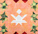 The Holly and the Angels Quilt Block Pattern Row Digital Download