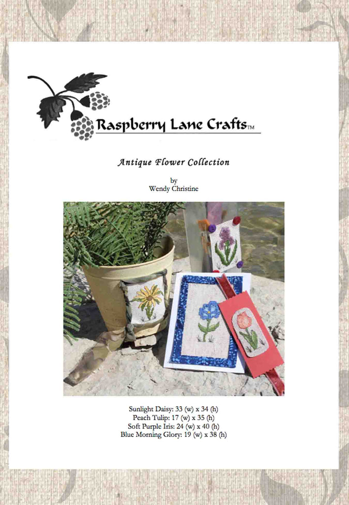 Buy Flowers Cross-Stitch Patterns Download at Raspberry Lane Crafts