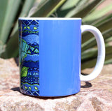 Buy Blue Coffee Mug at Raspberry Lane Crafts.  Purchase Find for Sale.  The Art of Wendy Christine.