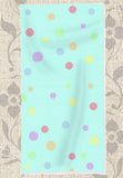 Buy Aqua Spotty Towel for Baby Shower Gift or Fun at Raspberry Lane Crafts