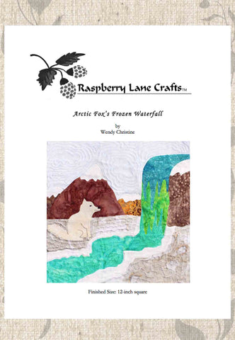 Arctic Fox's Frozen Waterfall Quilt Pattern Download