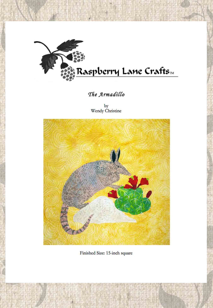 Buy Desert Armadillo Quilt Block Download Pattern at Raspberry Lane Crafts