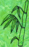 Bamboo shoot embroidery design is part of the Verdant Leaves Embroidery Pattern at Raspberry Lane Crafts 4 x 7 inches