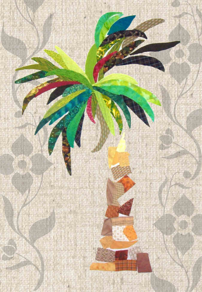 Banana Palm Tree Applique Sewing Quilt Pattern for Sale Tropical Trees.  Raspberry Lane Crafts