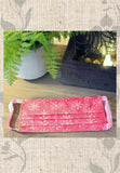 Pink Print Batik Fabric Face Mask for Sale