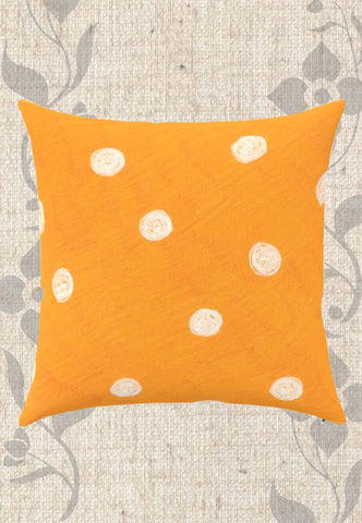 Beach Orange Dot Throw Pillows
