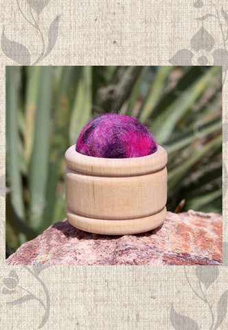 Wool Pin Cushion Puffs - Berry