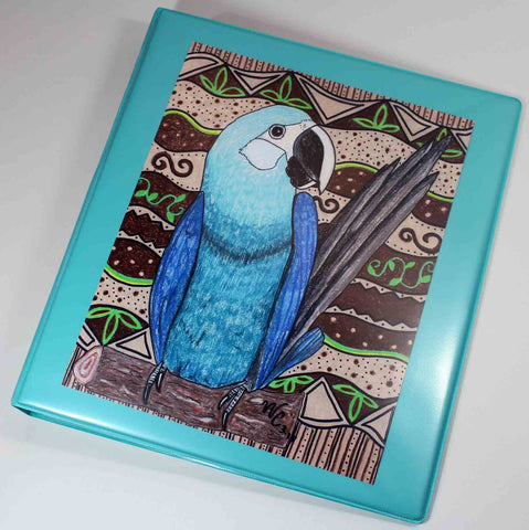 Spix's Macaw Light Blue Three-Ring Binder