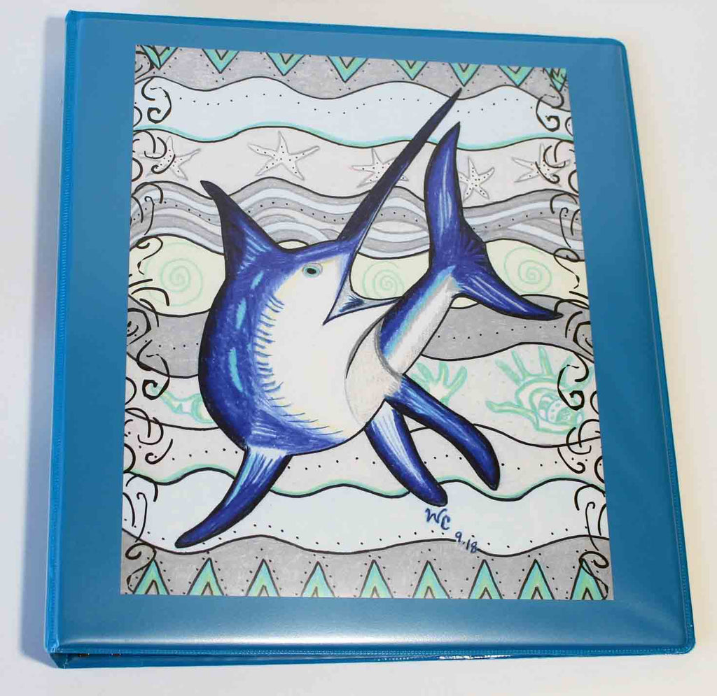 Swordfish Three-Ring Binder
