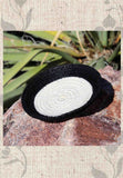 Artisanal Black and White Mini Basket for Sale at Raspberry Lane Crafts