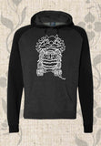 Men's Black Graphic Hoodie Sweatshirt for Sale Find Buy Purchase at Raspberry Lane Crafts.  Skating, Martial Arts, Chinese Imperial Lion.