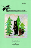 Black Bear Forest Quilt Block Pattern