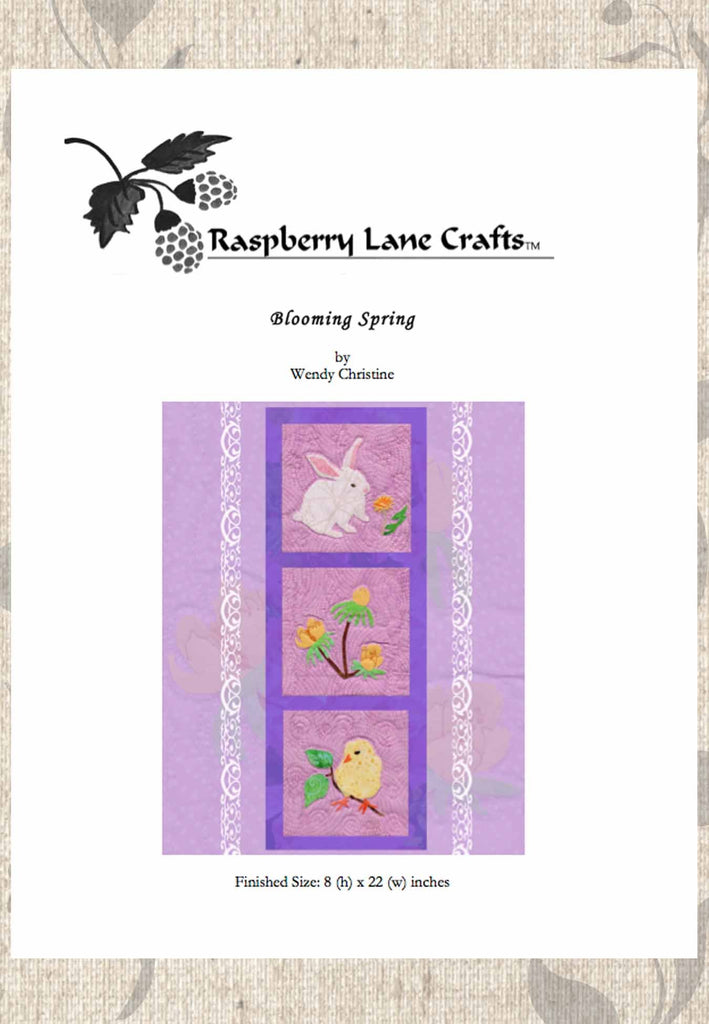 Easter Bunny Rabbit Flowers Baby Chick quilt pattern for sale