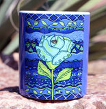 Beautiful Blue Southwest Flower Mug for Sale.  The Art of Wendy Christine