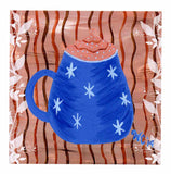 Blue Mug Coffee Latte Art Print 8 x 8 inch for Sale at Raspberry Lane Crafts Coffee House Prints