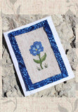 Blue flower cross stitch pattern for sale at Raspberry Lane Crafts