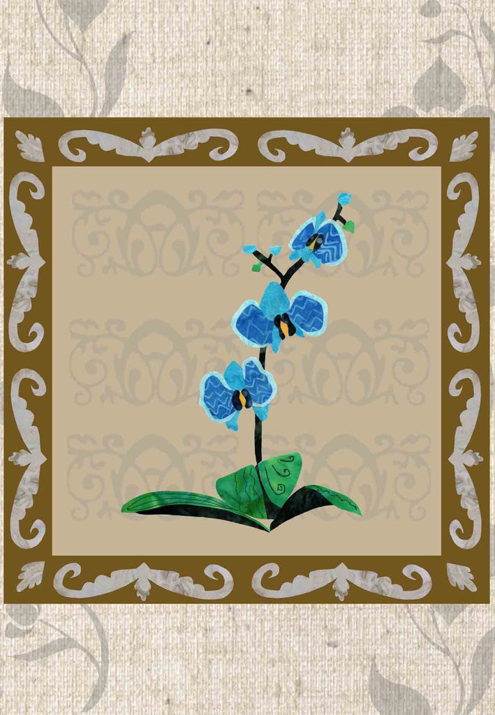 Purchase beautiful blue orchid quilt patterns at Raspberry Lane Crafts