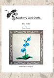 Buy blue orchid quilt pattern at Raspberry Lane Crafts. Gorgeous aqua orchid pattern!
