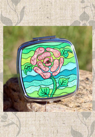Blue Stone Compact Mirrors