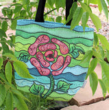 Southwest Art Tote Bag for Sale Green Blue Aqua Pink