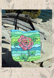 Blue Stone Pink Flower Green and Blue Tote Bags for Sale The Art of Wendy Christine