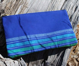 Blue Zipper Bag for Cosmetics Shaving Kit Pencils for Sale at Raspberry Lane Crafts