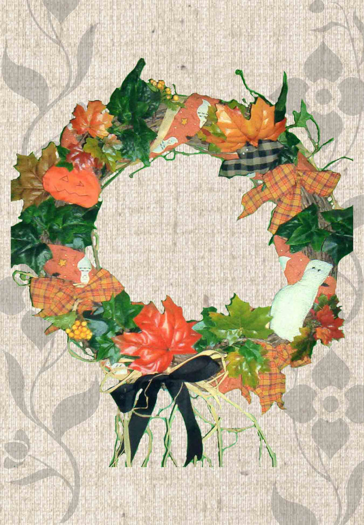 Halloween wreath pattern for sale at Raspberry Lane Crafts