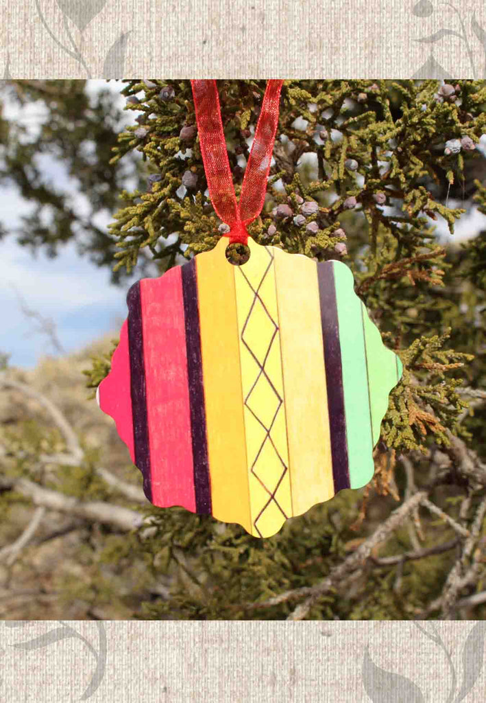 Colorful Christmas Ornaments for Sale from Raspberry Lane Crafts and The Art of Wendy Christine