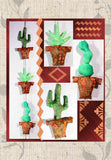 Buy Cactus Hanging Southwest Pattern Yucca Prickly Pear Saguaro Find Purchase at Raspberry Lane Crafts