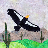 California Condor quilt block