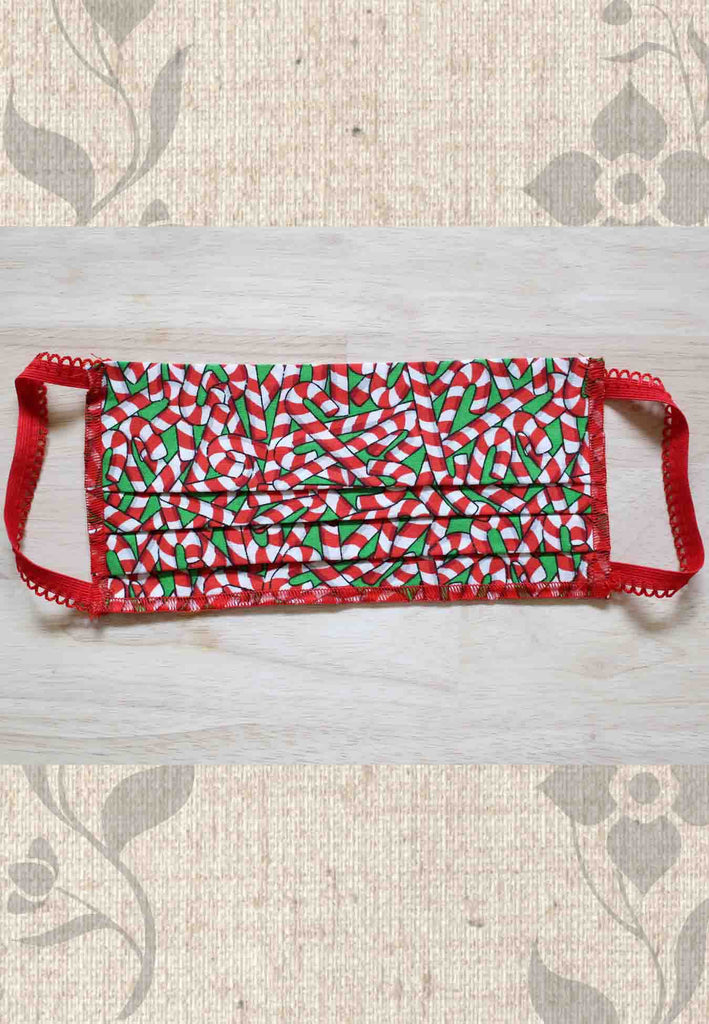Candy Cane Christmas Face Mask Covers for Sale at Raspberry Lane Crafts