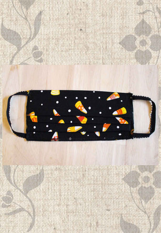 Grocery Store Face Mask - Halloween Candy Corn