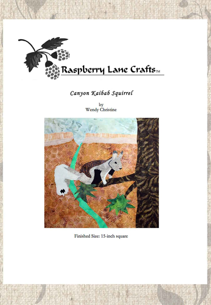 Buy Squirrel quilt block pattern download e-pattern at Raspberry Lane Crafts No Shipping