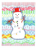 Carnivale Snowman Art Print for Sale from The Art of Wendy Christine Sold at Raspberry Lane Crafts