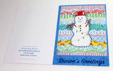 Carnivale Snowman Greeting Card