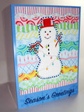 Carnivale Snowman Greeting Card for the Holidays from The Art of Wendy Christine