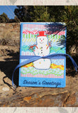 Carnivale Snowman Greeting Cards for sale from Wendy Christine