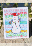 Carnivale Snowman Art Print Winter Holiday Christmas Lights Colorful by Wendy Christine for Sale Buy Purchase Find