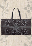 Charcoal Daisy Black Weekender Tote Bags for Sale