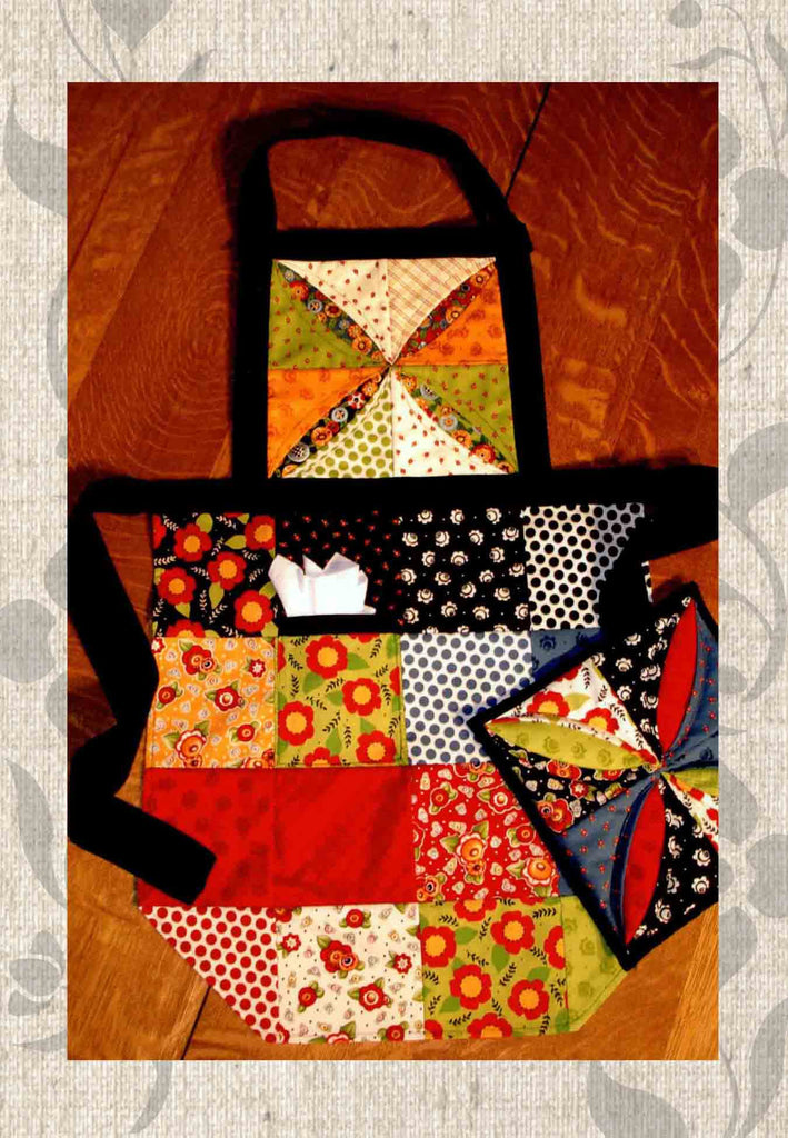 Apron Sewing Pattern using Charmed Squares for Sale at Raspberry Lane Crafts